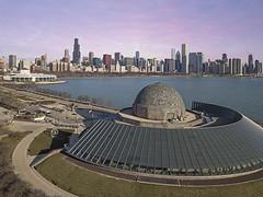 Adler Planetarium (player_pleasure) Tags: adlerplanetarium chicago drone mavicpro dji cityscape chicagoist cityofbigshoulders lakemichigan skyline skyscraper water
