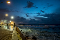 Wind from the sea (Ilya Novomodsky) Tags: sea telaviv israel wind sky beach