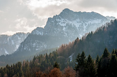 Early Spring in Bavaria (heather.hansen363) Tags: ridges clouds trees snow mountains alps germany bavaria
