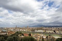 Firenze (*MH*) Tags: italien italy florenz florence firenze arno toskana tuscany piazzalemichelangelo wolken clouds fluss river stadtansicht skyline himmel sky