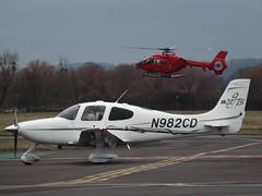 N982CD Cirrus SR22 GTS Private (Aircaft @ Gloucestershire Airport By James) Tags: gloucestershire airport n982cd cirrus sr22 gts private egbj james lloyds