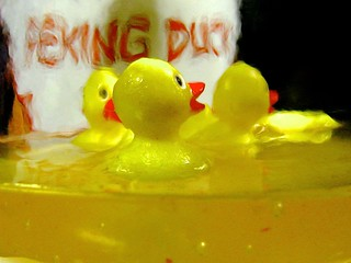 swimming in a sea of duck sauce... #Condiment