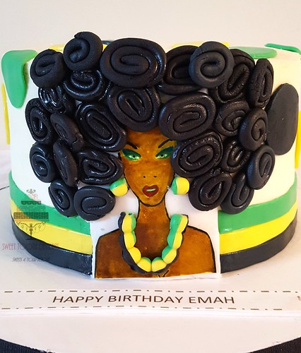 Awesome Jamaican Queen Birthday Cake A Photo On Flickriver Personalised Birthday Cards Paralily Jamesorg