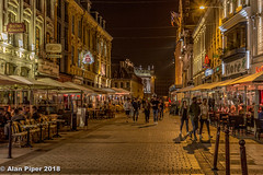 Eating out, Lille (PapaPiper (Travelling with my camera)) Tags: lille france nightscene night nightscape europe architecture