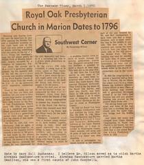 Royal Oak Presbyterian Church in Marion Dates to 1796 (mwlinford) Tags: royal oak presbyterian church marion virginia smythcounty