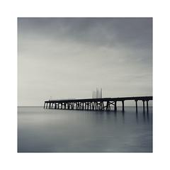 Poles Apart (Lindi m) Tags: lowestoft pier longexposure sunrise square claremontpier firecrestfilter minimalcolour silhouette