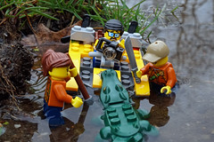 When Suddenly, and Without Warning... (Gary Burke.) Tags: lego swamp attack danger dangerous alligator animal boat water legofigures minifigures toy legominifigures toys toyphotography legophotography legobricks sony a6300 mirrorless sonya6300 outside macro fun newyork nyc newyorkcity park nycpark path alleypondpark bayside alleypond oaklandgardens queens ilovenewyork ny klingon65 gothamist garyburke nycdetails nyctravel city iloveny citylife ilovenyc cityliving outdoor whenanimalsattack