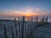 maasvlakte2 (chrisvanes) Tags: maasvlakte sunset noordzee beach strand zonsondergang fence