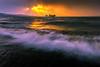 sunset 7541 (junjiaoyama) Tags: japan sunset sky light cloud weather landscape yellow orange purple contrast color lake island water nature winter wave storm