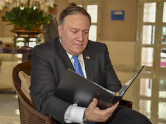 Secretary Pompeo Reviews President Trump's Remarks to the Press (U.S. Department of State) Tags: mikepompeo dprk singapore
