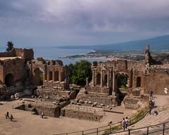 Taormina - the Graeco-Roman theatre (Michael Gillan) Tags: sicily sicilia greektheater greektheatre taormina