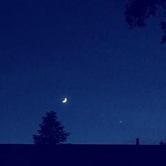 day 167 (pepitaphotos) Tags: nightsky sky night space venus crescentmoon moon