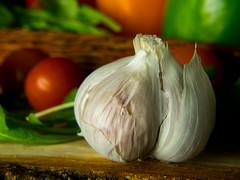 Garlic (Andy Sut) Tags: cookery ingredients dining kitchen food vegetables studio stilllife garlic andysutton edible eating lumix bridgecamera amateur homestudio studiolighting still