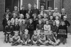 Class Photo (theirhistory) Tags: children boys kids girls school class form jumper shorts coat jacket shoes wellies boots slate
