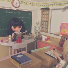 School (HaleighCreatesKawaii) Tags: blythe doll basaak kawaii miniatures diorama