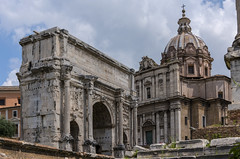 The Church and the Arch (dcnelson1898) Tags: rome italy vatican roman forum tiberriver ancient viasacra church catholicchurch