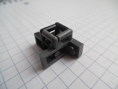 "Lego Building Technique: ""2x1 With Vertical Bar"" Piece (thebrickccentric) Tags: lego technique npu 1x2 2x1 plate bar arm sideways snot connection build radial"