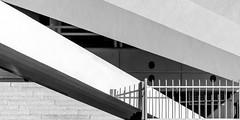 base pavillon (bilderkombinat berlin) Tags: ⨀2018 berlin capital mitte eu city citysights tvtower blackwhite bw europa day germany concrete architecture fence steps structure europe deutschland buildings shadow
