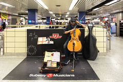 Sounds of the Subway (cookedphotos) Tags: 2018inpictures toronto ontario canada ca canon 5dmarkiv streetphotography ttc subway station musician music performance cello busker bach urban 365project p3652018
