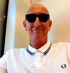 London. June 2018 (Roy Richard Llowarch) Tags: people royllowarch royrichardllowarch travel travelling shirts shades sunglasses poloshirts fp fredperry london londonengland lacoste oldguysrule men english england british fashion mensfashion menswear trains londonunderground daytrips selfie selfies englishman englishmen