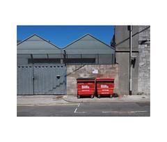 basking biffas (chrisinplymouth) Tags: bin wheelybin industrial waste biffa red stonehouse plymouth devon england uk cw69x 2017 recycling inexplore city explored desx plymgrp camminante coupla