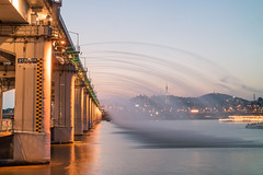 Banpo Bridge. (Kim Jin Ho) Tags: han river korea seoul famous place travel destination tourist fountains show night sunset namsan tower gangnam