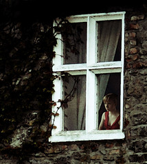 Restricted Spirit (coollessons2004) Tags: woman melancholy sad sadness window vintage