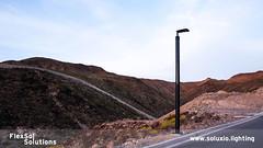 Soluxio autonomous solar street light on mountainside (FlexSol Solutions) Tags: solar solarpowered streetlight lighting street pv autonomous offgrid led sustainable mountain city smart sunset