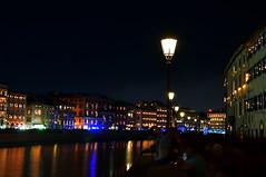 Luminara (ema_leo) Tags: pisa toscana tuscany italy italia luminara notturna luci lampioni arno