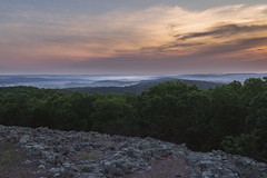 Hughes Mountain sunrise (tylerjacobs) Tags: sony a6000 sigma 16mm f14 wide angle landscape nature photography missouri st francois mountains state park woods forest mountain geology rock rocks summer hiking camping