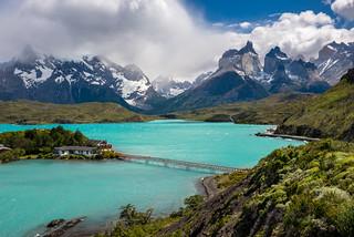 Lake Pehoe / Cuernos del Paine, Parque Nacional Torres del Paine, Patagonia, Chile