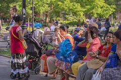 1354_0202FL (davidben33) Tags: newyork manhattan summer washington square park grass trees flowers people crowd women girls street streetphotos festive dance music joy beauty fashion colors 718 kharakrishna festival