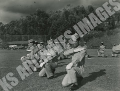 328- 5455 (Kamehameha Schools Archives) Tags: kamehameha archives ksg ksb ks oahu kapalama luryier pop diamond 1954 1955 drill team punahou junior varsity jv football sports