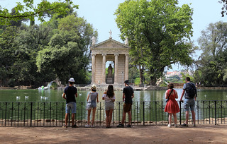 Viewing the enchanting Temple of Asclepius and the lake with turtles