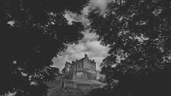 Gap in the foliage (grobigrobsen) Tags: edinburgh scotland schottland castle edinburghcastle monochrome blackandwhite travel schwarzweiss bw sw