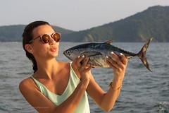 Best Friends )))    XOKA3441s11 (Phuketian.S) Tags: friend girl fish love sea yacht fishing pretty beauty beautiful mountain landscape phuket thailand boat glasses reflection sunglasses