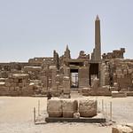 Patio Central del Templo de Amón en el Complejo de Karnak, Luxor, Egipto thumbnail