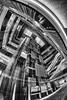 Toshima City Office (B Lucava) Tags: tokyo ikebukuro blackandwhite bw architecture fisheye wideangle building elevator