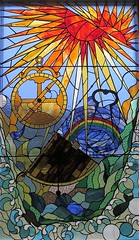Mossel Bay, stained glass in Bartolomeu Dias museum (Sokleine) Tags: museum musée dias historic heritage vitrail stainedglass mosselbay gardenroute westerncape southafrica afriquedusud africa afrique