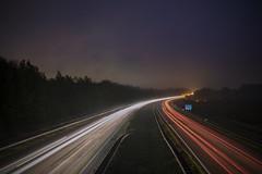 Hit the road Jack! (BasHandels) Tags: longexpo longexposure slowshutter shutterspeed lightytrails night highway cars sky limburg heerlen