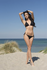 here come the sun (juergenberlin) Tags: swimwear bikini model topmodel mode fashion strand beach beuty sexy woman long hair girl gntm2017