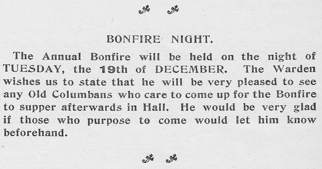 Bonfire Night, December 1911