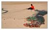 Travail sur la plage -  Work on the beach (diaph76) Tags: extérieur plage beach sable sand homme men tunisie tunisia hammett filet net travail work réparation ramendage