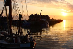Light (NovemberAlex) Tags: colour sunset whitstable kent boats silhouette water seaside