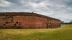 Fort Pulaski (ProPeak Photography - Thanks for 600,000 views!) Tags: america blue buildings cannon chathamcounty clouds cockspurisland damage famousplace fortpulaski georgia grass green militarystructure moat nps nationalmonument nationalregisterofhistoricplaces northamerica places rural touristattraction traveldestination travelandtourism trees usa unitedstates water yellow