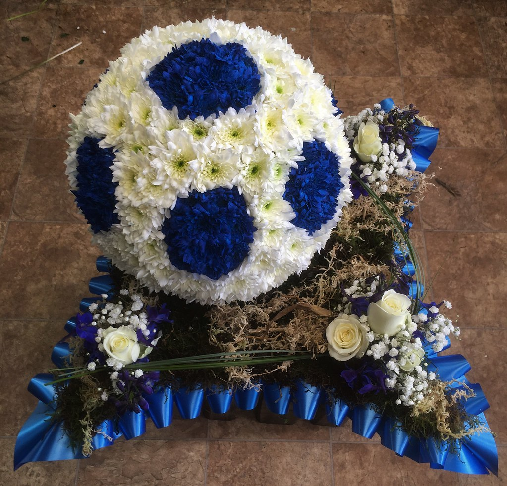 The worlds best photos of florist and funeral flickr hive mind football flowers by moonstones fareham florist tags funeralflowers sympathy funeral tribute funeraltribute izmirmasajfo