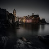 Vernazza (One_Penny) Tags: italy cinqueterre photography tuscany vernazza square squareformat squarecrop dark sinister moody colors waterfront rocks water sea longexposure church tower houses architecture morning light saturation village stones travel tourism