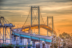 Morning At the L.A. Harbor (Michael F. Nyiri) Tags: vincentthomasbridge knollhill sanpedro sunrise bridge losangeles california southerncalifornia