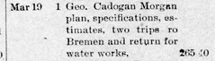 1892 04 - George C Morgan water works - Enquirer - 29 Apr 1892