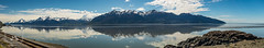 Turnagain Arm Reflections (fentonphotography) Tags: alaska spring reflections water railroadtrack chugachmountains bluesky panorama landscape seascape
